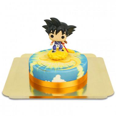 Kid Son Goku op Supersonic wolken taart