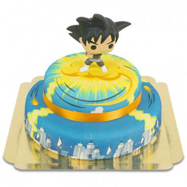 Goku Black op 2-laagse Nimbus over stad-taart