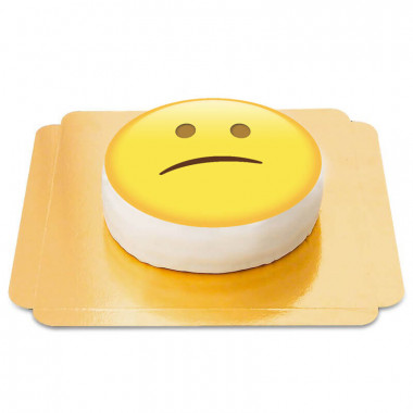 Teleurgestelde emotie-taart