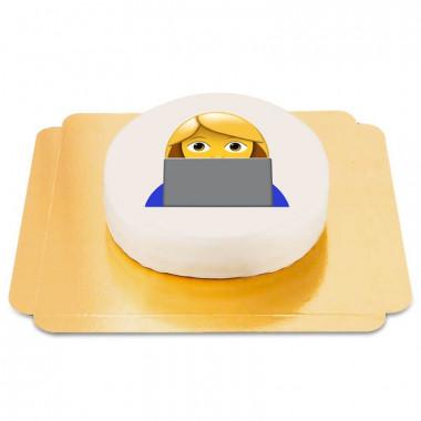Meisje op de PC Emoji-taart