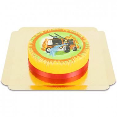 Brandweerwagen-taart