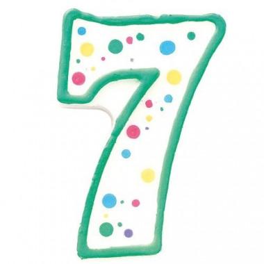 Cijferkaars nummer 7 ca. 7,5 cm