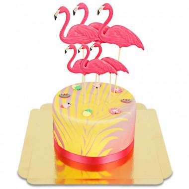 Flamingo taart Deluxe