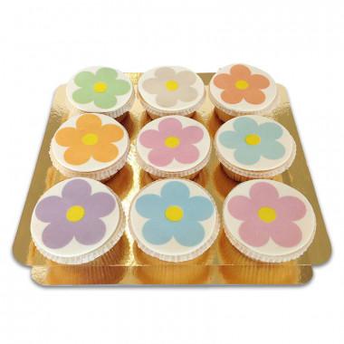 Flower Power cupcakes (9 stuks)