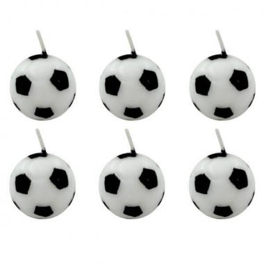 Voetbal kaarsen  (6 Stuks)