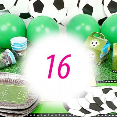 Voetbal partyset voor 16 personen – zonder taart