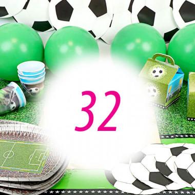 Voetbal partyset voor 32 personen – zonder taart