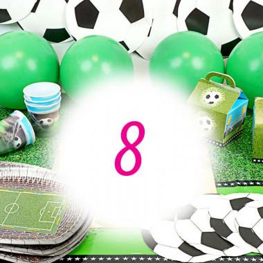 Voetbal partyset voor 8 personen – zonder taart