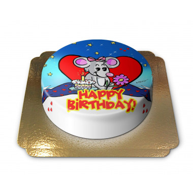 Happy Birthday taart