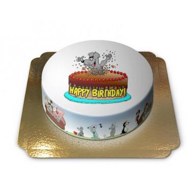 Verjaardagstaart met cartoon muis