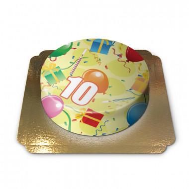 Verjaardagstaart met cijfer
