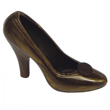Goud-bruine chocolade schoen