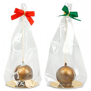 Gouden deluxe cakepops kersteditie (Set à 10 stuks)