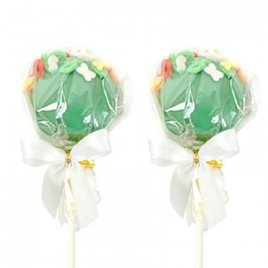 Groene Cake-Pops met letters (12 Stuks)