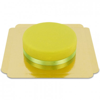 Groene taart met taartenlint
