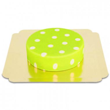 Groen met witte stippen taart