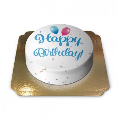 Happy Birthday taart blauw