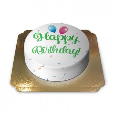 Happy Birthday taart groen