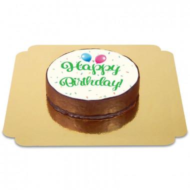 Happy Birthday Sachertaart groen