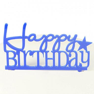 Cake Topper Happy Birthday, blauw