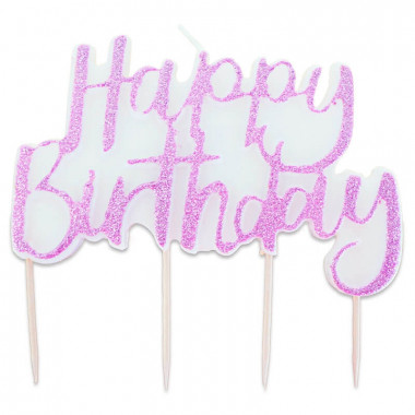Taartenkaars, Happy Birthday Pink