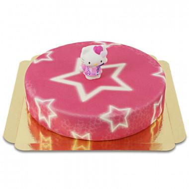 Hello Kitty op sterren taart