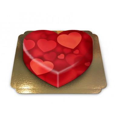 Hartvormige hartentaart