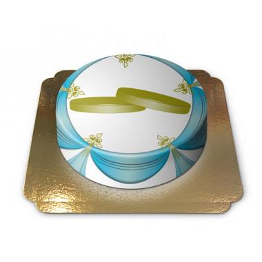 Trouwringen taart