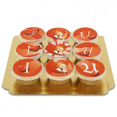 I Amor U Cupcakes, 9 stuks