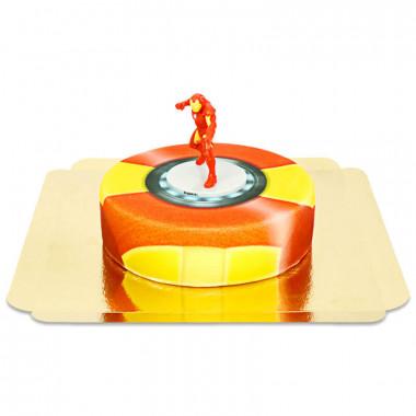 Iron-Man op pantser taart