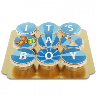 It's a boy Cupcakes, 9 Stuks