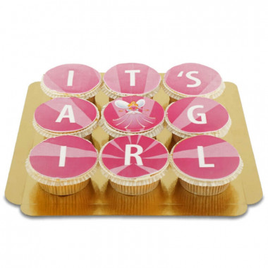 It's a girl Cupcakes, 9 Stuks