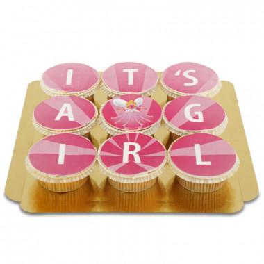 It's a girl Cupcakes, 9 Stuks
