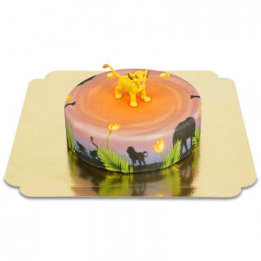 Simba op ronde savanne taart