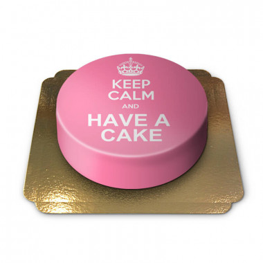 """Roze """"Keep Calm and..""""-taart"""