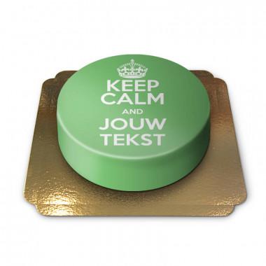 """Groene """"Keep Calm and..""""-taart"""