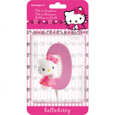 Hello Kitty taartenkaars nummer 0
