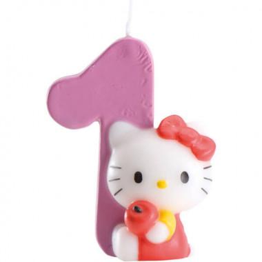 Hello Kitty kaars, cijfer 0-9