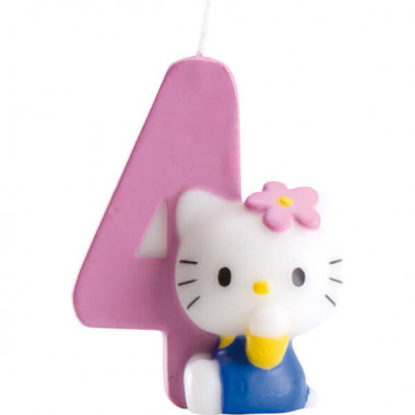Hello Kitty taartenkaars nummer 4
