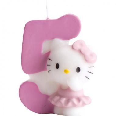 Hello Kitty taartenkaars nummer 5