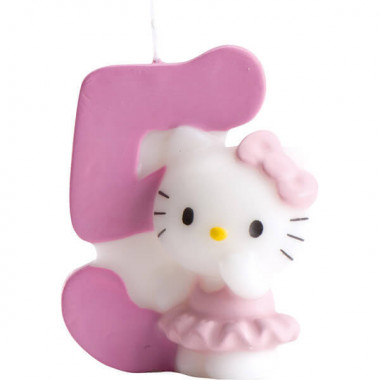 Hello Kitty taartenkaars nummer 5