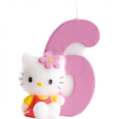 Hello Kitty taartenkaars nummer 6