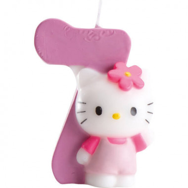 Hello Kitty taartenkaars nummer 7