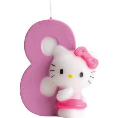 Hello Kitty taartenkaars nummer 8