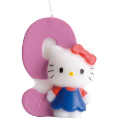 Hello Kitty taartenkaars nummer 9