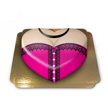 Roze-hartvormige-corset-taart