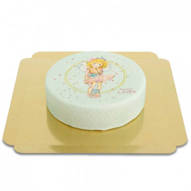 Prinses Lillifee taart in mintgroen