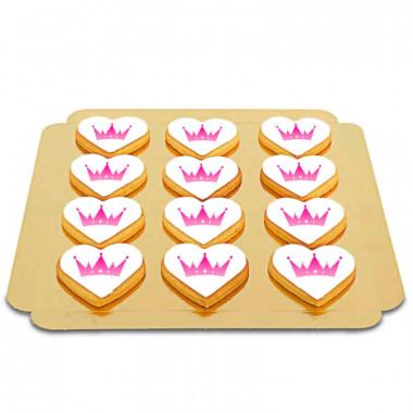 Hartvormige logo-koekjes (12 stuks)