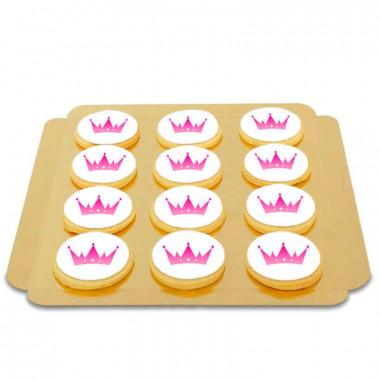 Logo-koekjes, rond (12 stuks)