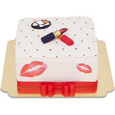 Luxe Make-Up taart, vierkant dubbele hoogte